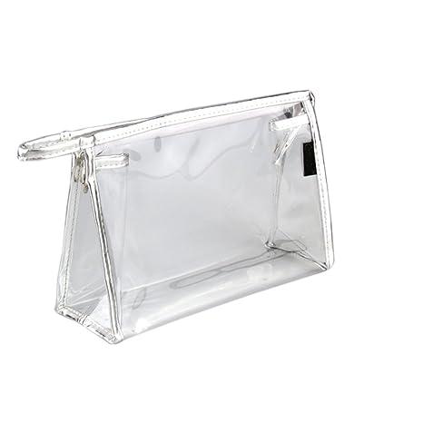 7a6d03a95 Hustar Bolsa de plástico transparente de PVC bolsa de viaje maquillaje  cosmético neceser bolsa de aseo