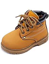 Kids Classic Easy On Waterproof Winter Snow Work Boots For Girls and Boys (Toddler/Little Kid)