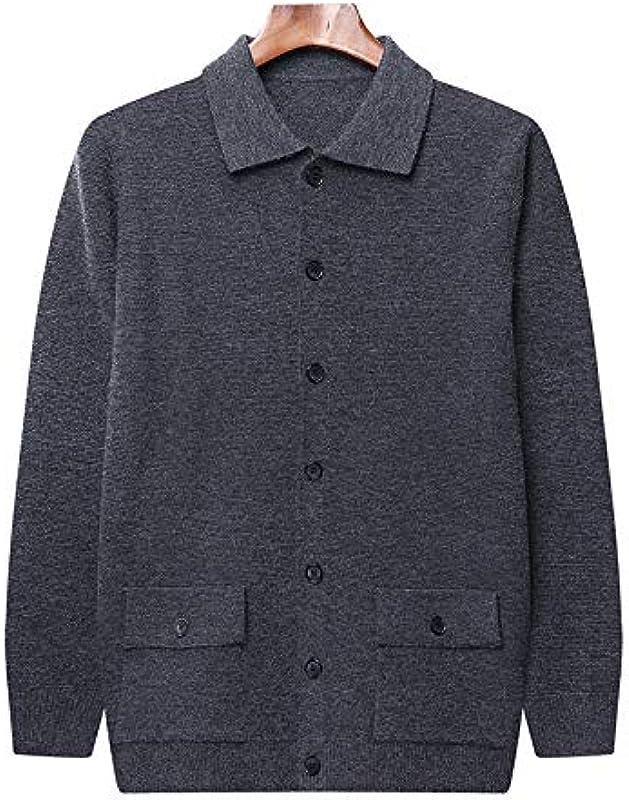 U/A Strickcardigan Męskie Mittelalter und Junge Herbst Neue Męskie Langarm Dicker Strick Kleiner Mantel Slim Sweater Męskie: Odzież