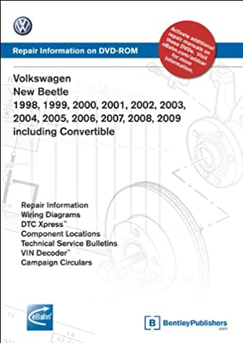 volkswagen new beetle 1998 1999 2000 2001 2002 2003 2004 2005 rh amazon com 1974 Volkswagen Beetle Wiring Diagram 1999 Volkswagen Beetle Wiring Diagram