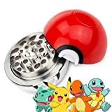 Pokemon Poke-ball Herb Spice Grinder Aluminum 3 pc 55mm