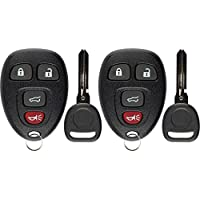 KeylessOption Keyless Entry Remote Control Car Key Fob Replacement for 15913416 with Key (Pack of 2)