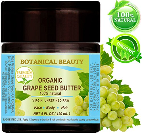 Botanical Beauty ORGANIC GRAPE SEED OIL BUTTER RAW. 100 % Na
