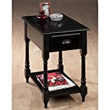 DCG Stores Antique Black Chairside Table – 1 Drawer Review