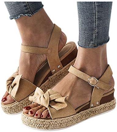 Gibobby Beach Sandals for Women,Open Toe Slip On Platform Sandals Espadrilles Buckle Strap Wedges Shallow Beach Shoes