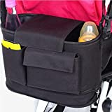 Stroller Organizer Bag - Water Resistance Universal Fit for All Baby Strollers Infant Car - XL Extra Large Space Capacity Baby Bag to Store Diapers,Wipes,Milk,Cups And Snacks - Shoulder Strap