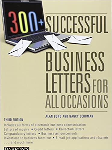 300 successful business letters for all occasions barron s 300