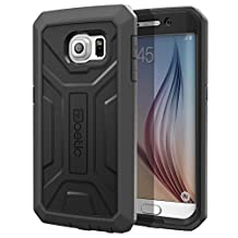 Galaxy S6 Edge Case - Poetic [Revolution Series] Samsung Galaxy S6 Edge Case - [Heavy Duty] [Dual Layer] Protection Hybrid Case WITH OUT Built-In Screen Protector for Samsung Galaxy S6 Edge (2015) Black (3-Year Manufacturer Warranty From Poetic)