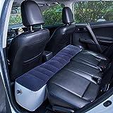 FMS Car Mattress Inflatable Back Seat Gap Pad Air Bed Cushion for Car Travel Camping (Gray)