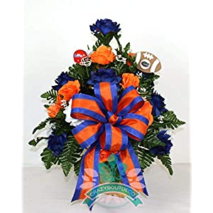 Florida Gators Fan Cemetery Vase Arrangement 64