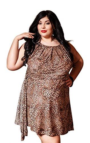 Nine X - Salto de cama - para mujer Brown Leopard