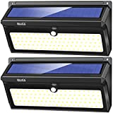 BAXIA TECHNOLOGY 100 LED Solar Lights, Solar Motion Sensor Lights with Wide Angle, Upgraded Waterproof Super Bright Security Solar Wall Lights for Outdoor Garden, Front Door, Yard, Fence [2 Pack] For Sale