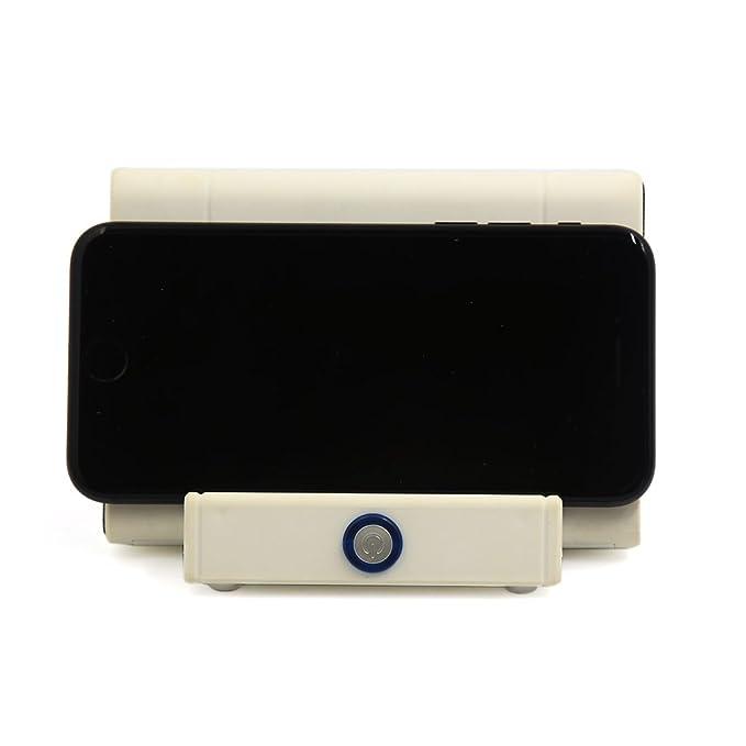 Amazon.com: eDealMax USB Blanca Universal amplificador estéreo recargable altavoz inalámbrico por inducción: Automotive