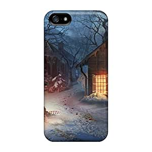 Iphone 5/5s Cases Covers - Slim Fit Protector Shock Absorbent Cases (fierce Tales Dogs Heart08)