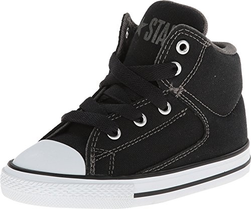 Converse Infant Chuck Taylor All Star High Street Hi Fashion Sneaker Shoe, Black, 9