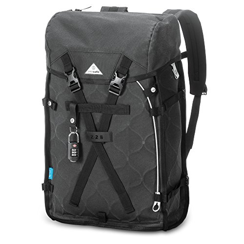 Charcoal Grey Camera Cases - Pacsafe Ultimatesafe Z28 Anti theft backpack (Charcoal)