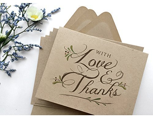 Amazon Com 36 Pack Wedding Thank You Cards Rustic Thank You