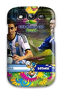 Tpu Shockproof/dirt-proof Argentina Vs Bosnia And Herzegovina Cover Case For Galaxy(s3)