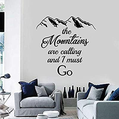 Llzz Wall Sticker The Mountains Are Calling I Must Go To The Wall