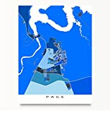 """Map Art Print. FRAME AND MAT NOT INCLUDED (Print Only).  Choose size and colour (if applicable) from the Select Options dropdown box(es).  Map design will be exactly the print size chosen (no white border).  ***PRINTS (12x16"""" and smaller)*** ..."""