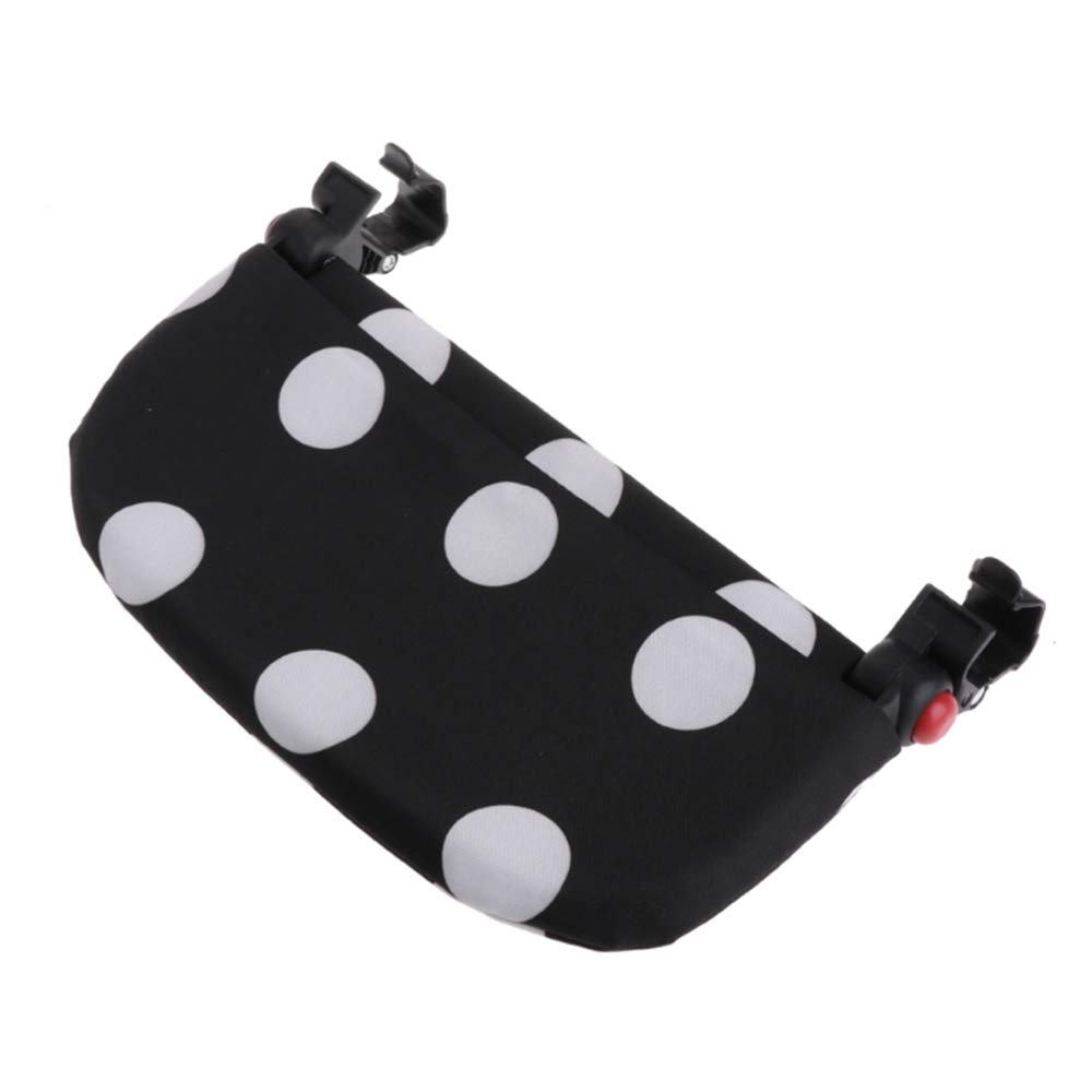 HuntGold 1 Pc Baby Infant Stroller Accessories Pushchair Extension Lengthen Pedal Feet Pram Foot Rest Footrest Footboard-Black & White Dots Hunt Gold