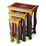 Butler specality company BUTLER 1893290 SASHA HAND PAINTED NESTING TABLES For Sale