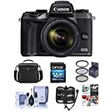 Canon EOS M5 Mirrorless Digital Camera Kit with EF-M 18-150mm f/3.5-6.3 IS STM Lens - Bundle with Holster Case, 16GB SDHC Card, 55mm Filter Kit, Cleaning Kit, Memory Wallet, Software Package