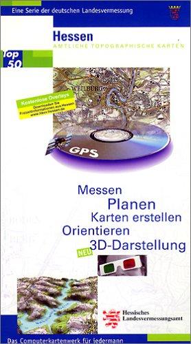 Rasterdaten der amtlichen Topographischen Karten von Hessen auf CD-ROM. Flächendeckende blattschnittfreie Kartendarstellung mit Ortnamenverzeichnis: ... Karten 1:50000 - 3D-Darstellung