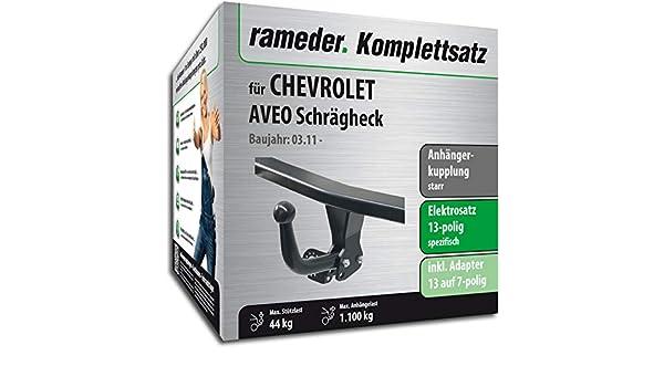rameder Juego completo, remolque fijo + 13POL Elektrik para Chevrolet Aveo Hatchback (113259 - 09591 - 1): Amazon.es: Coche y moto