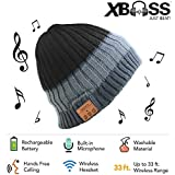 Xbass Deluxe Wireless Bluetooth Beanie Hat 4.1, Hands-free Built-in Stereo Speakers and Microphone for Calls - Premium Winter Hat with Headphone