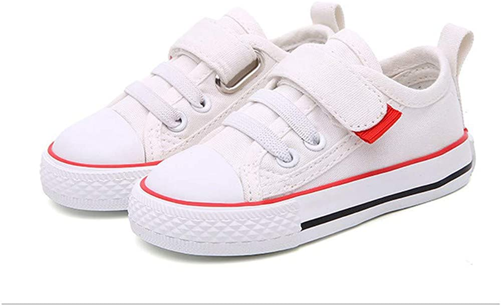 Toddler Little Kid Boy and Girl Classic Adjustable Strap Sneaker Canvas Shoes