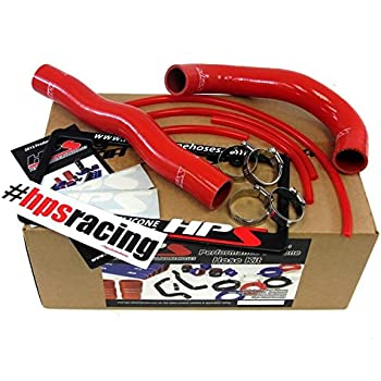 Hyundai 13-14 Genesis Coupe 2.0T Turbo 4Cyl HPS Reinforced Red Silicone Radiator Hose Kit Coolant