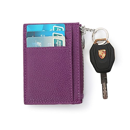 Business RFID Coffee Case Artmi Holder Credit Chain Purple Card Unisex Case Card Key Slim with Card 4xxqTS8wf