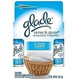Glade Sense & Spray Clean Linen Refill Twin, 0.86 Oz (Pack of 5 )
