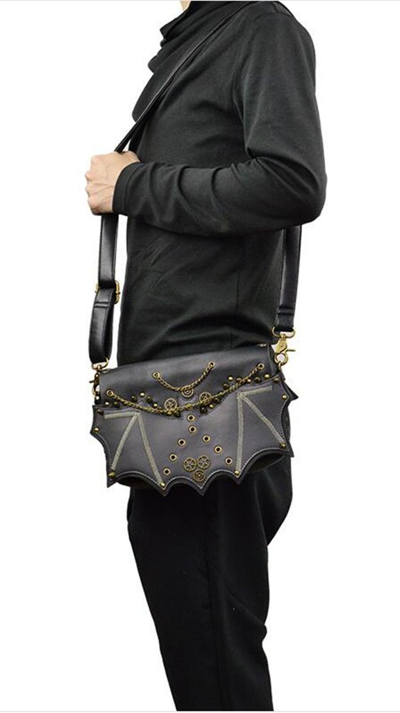 JACKDAINE Ladies Fashion Steampunk Package Willow Chain Shoulder Shoulder PU Purse by Jackdaine
