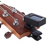 AmiciKart Digital LCD Display Automatic Clip-On Chromatic Guitar Bass, Violin, Ukulele Tuner