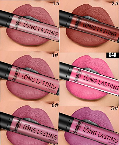 Matte Liquid Lipstick Set, YHMWAX 6 Colors Long Lasting Crea