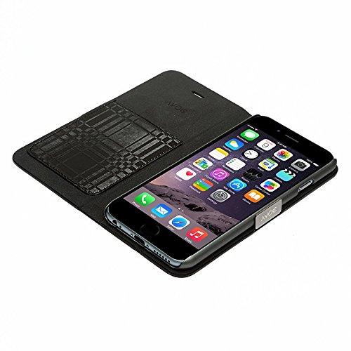 """Zenus Schutzhülle """"Avoc Mono Check Diary"""" in schwarz für Apple iPhone 6"""