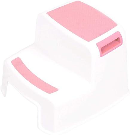 Noradtjcca - Taburete Doble de 2 peldaños de plástico de 280 lbs para niños, Antideslizante, Escalera para niños, pies Antideslizantes para niños: Amazon.es: Hogar