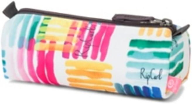 RIP CURL Watercol Pencil Case Estuche de Un Compartimento con Cierre de Cremallera, Color Blanco, 21 cm: Amazon.es: Deportes y aire libre