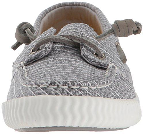 Sperry Top-sider Dames Sayel Away Pinstripe Sneaker Grijs / Wit