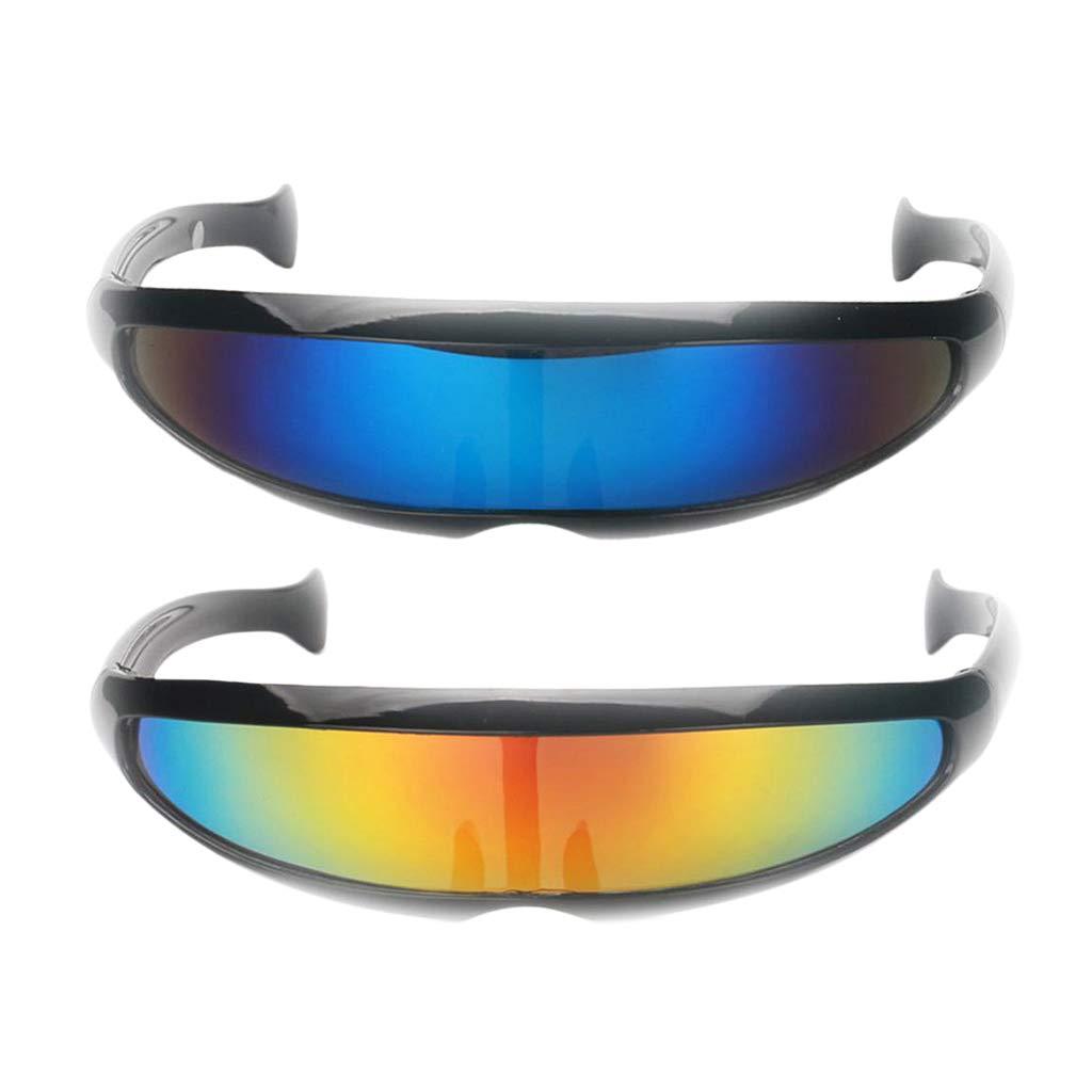 MagiDeal 2X Retro Gafas De Sol Clout Oval Adorno Ligero Gafas Disfraz Juego Fiesta