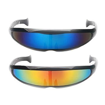beste Seite Fabrik authentisch online Baoblaze 2er Set Futuristische Cyclops Sonnenbrille ...