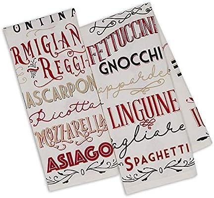 Amazon.com: Design Imports DII Italiano Kitchen Dishtowels ...