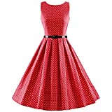 Search : iLover Women's 1950s Style Rockabilly Swing Vintage Dresses Party Dress