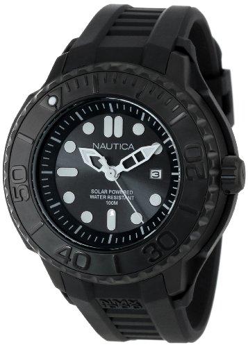 Nautica Men's N28509G NMX 1000 Date Solar Powered Black Watch