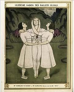 Diseño de Poster de Ballets ruses en una escena de Claude