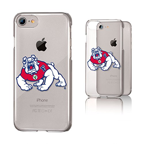 Keyscaper KCLRI7-0FRS-INSGN1 Fresno State Bulldogs iPhone 8/7 Clear Case with FS Insignia Design (Fresno Apple One)
