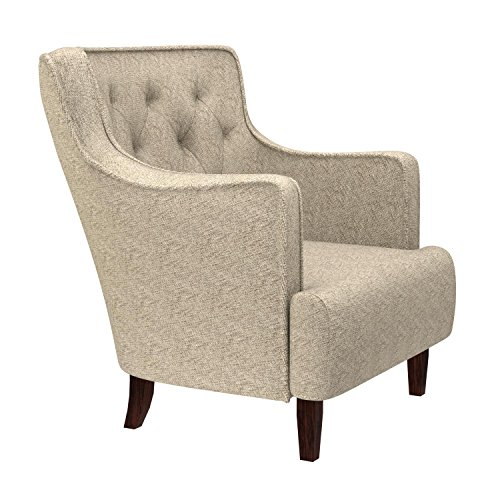 Stone & Beam Decatur Modern Tufted Wingback Living Room Accent Chair, 32.3