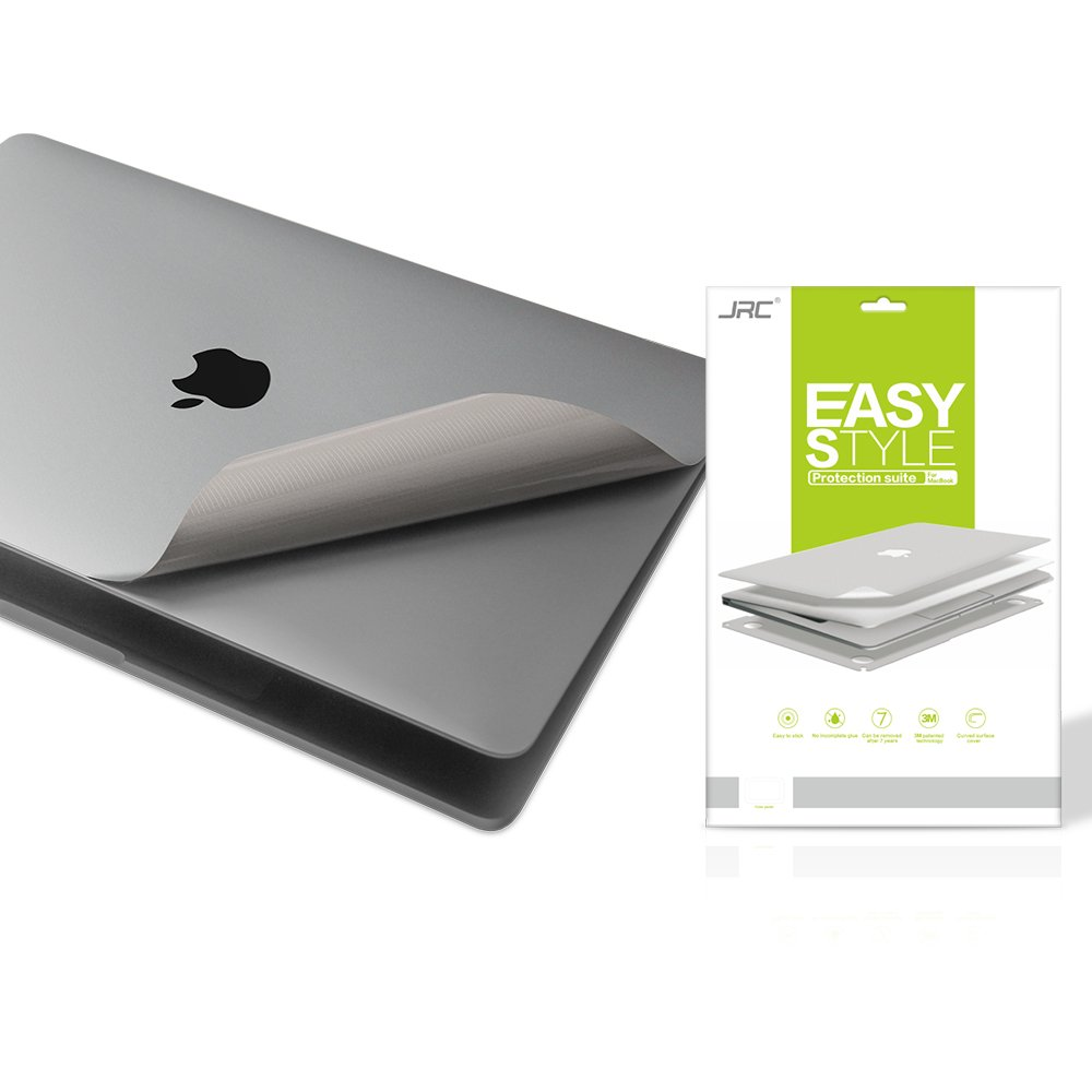 Premium 5 in 1 Full Size 3M Decals Skins Covers for MacBook Pro 13 Inch With Touch Bar (Apple Model Number A1706/A1989, 2016/2017/2018),Including High Clear Screen Protector--Gray
